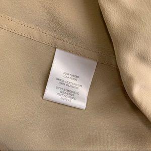 Equipment Tops - Equipment | Silk Button Tan Blouse Flawed S